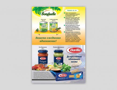 Рекламна страница – Bonduelle + Barilla
